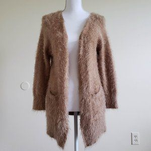 Zara Knitwear Fancy Collection Tan Cardigan